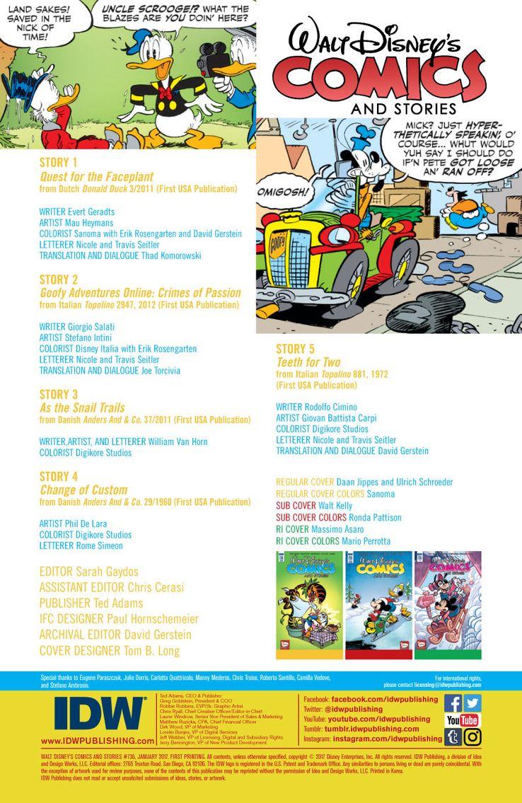 Walt Disney's Comics and Stories #736   CBR