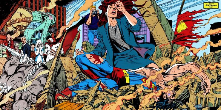 Superman is beaten to death by Doomsday - Formas en que DC ha matado a Clark Kent
