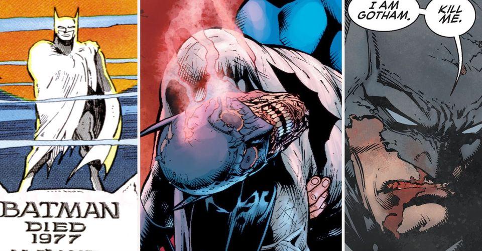 The Dead Knight 15 Times Batman Died Cbr