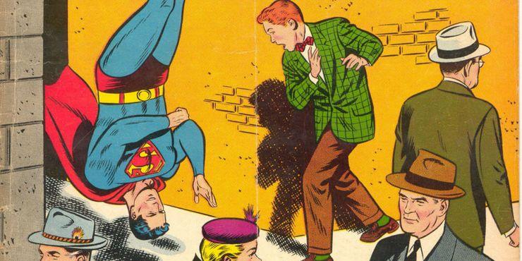 superman jimmy olsen upside down prank - 10 Decisiones morales cuestionables que Superman ha tomado en los cómics
