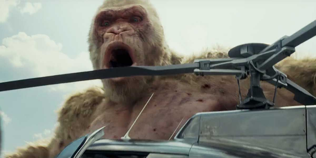 Rampage Movie Has A Nod To Video Game S Woman In The Red Dress
