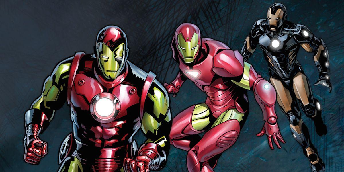 Tony Stark Iron Man #1 Variant Cover Model 04 Classic Red /& Gold Armor