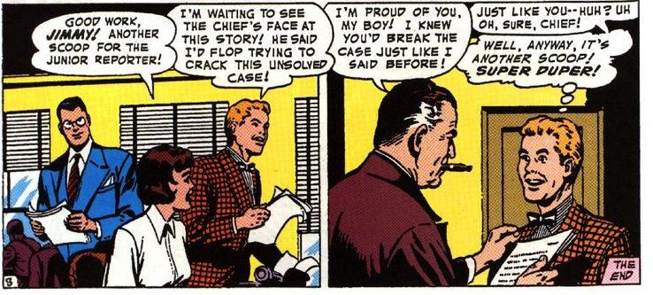"""jimmy olsen 1 - ¿Cuándo dijo Perry White por primera vez """"Por el Fantasma del Gran César"""" en los cómics?"""