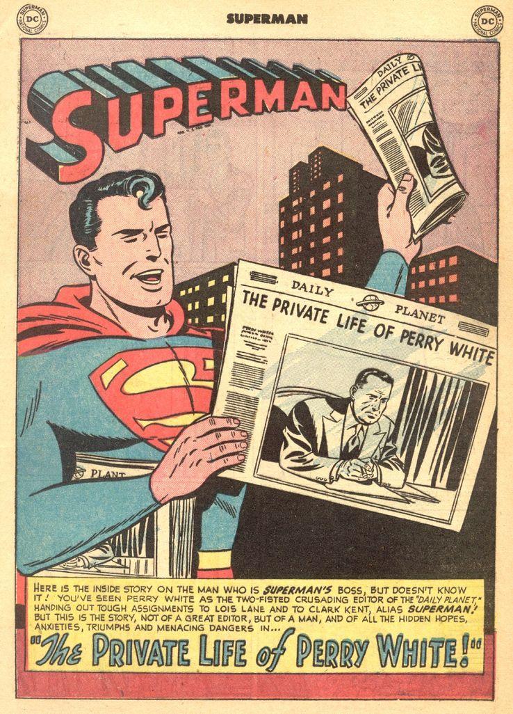 """superman 72 - ¿Cuándo dijo Perry White por primera vez """"Por el Fantasma del Gran César"""" en los cómics?"""