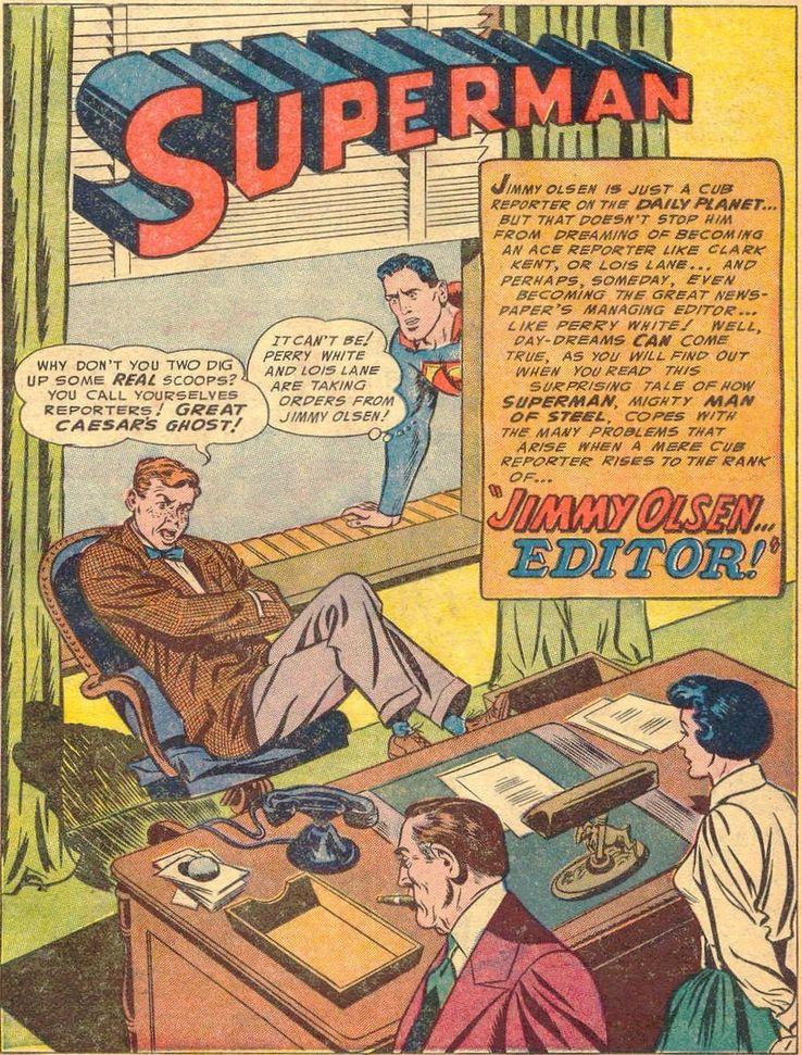 """superman 86 1 - ¿Cuándo dijo Perry White por primera vez """"Por el Fantasma del Gran César"""" en los cómics?"""