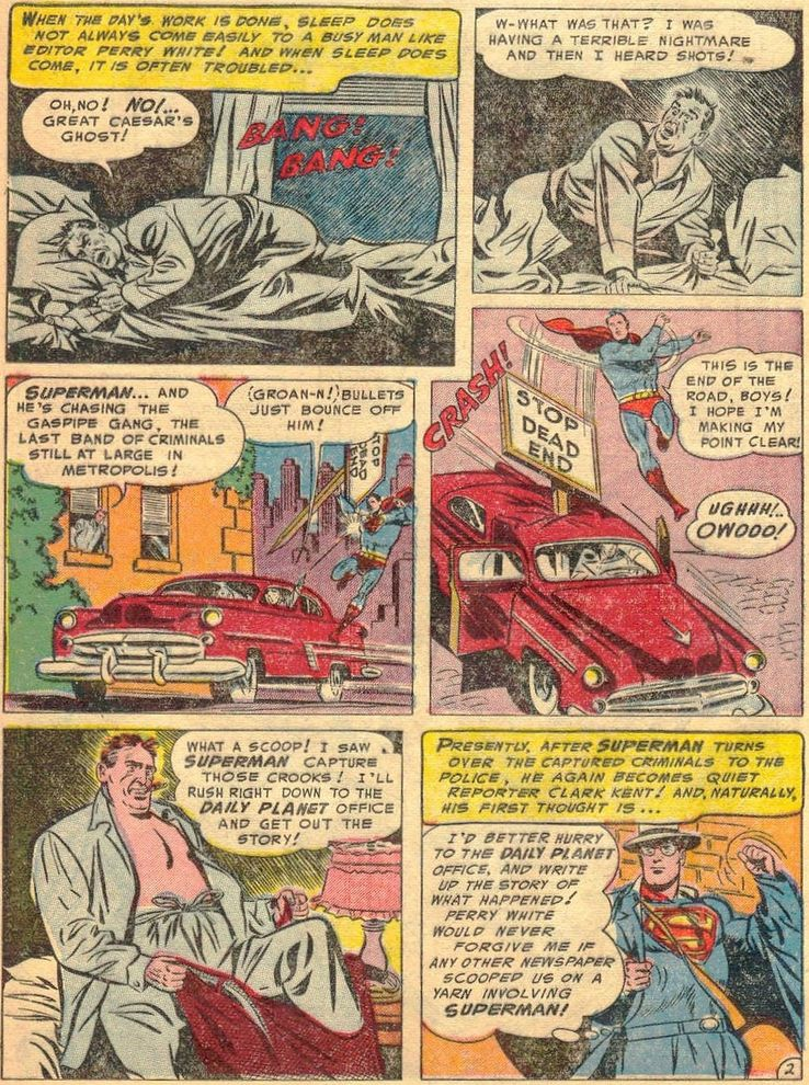 """superman 86 2 - ¿Cuándo dijo Perry White por primera vez """"Por el Fantasma del Gran César"""" en los cómics?"""