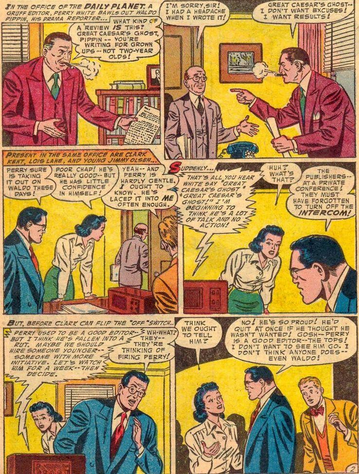 """superman 91 1 - ¿Cuándo dijo Perry White por primera vez """"Por el Fantasma del Gran César"""" en los cómics?"""