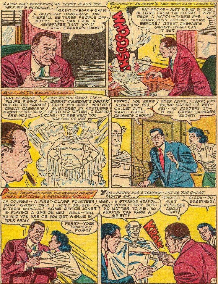 """superman 91 2 - ¿Cuándo dijo Perry White por primera vez """"Por el Fantasma del Gran César"""" en los cómics?"""