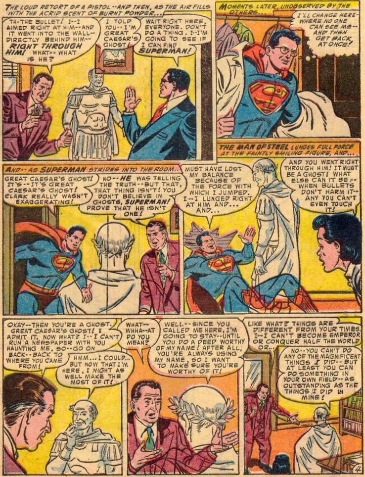 """superman 91 3 - ¿Cuándo dijo Perry White por primera vez """"Por el Fantasma del Gran César"""" en los cómics?"""
