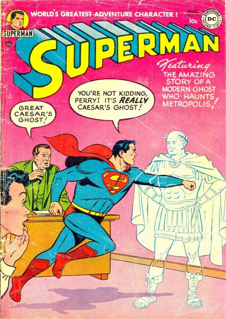 """superman 91 cover - ¿Cuándo dijo Perry White por primera vez """"Por el Fantasma del Gran César"""" en los cómics?"""