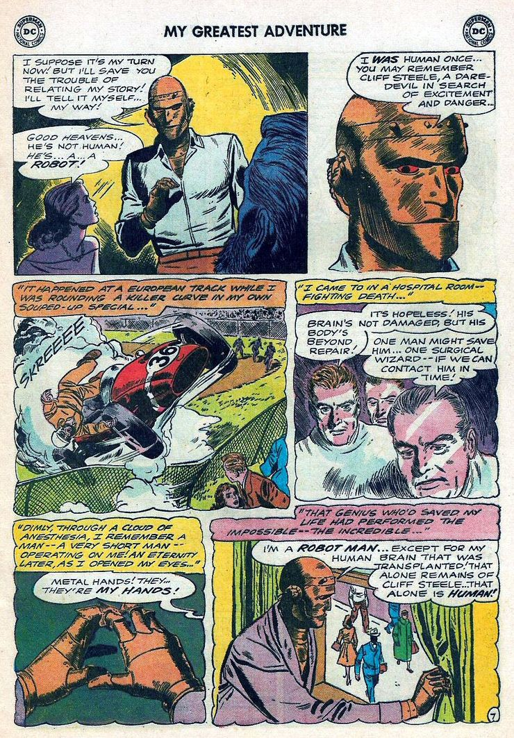 That Time That Robotman Didn't Know He Wasn't Supposed to Be Alive