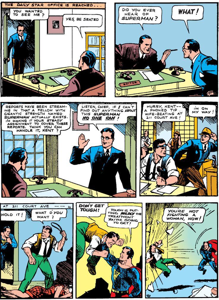 action 1 - La primera vez que Superman se abrió la camisa