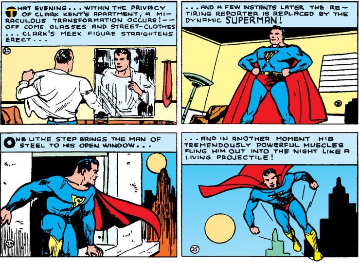 action 7 - La primera vez que Superman se abrió la camisa