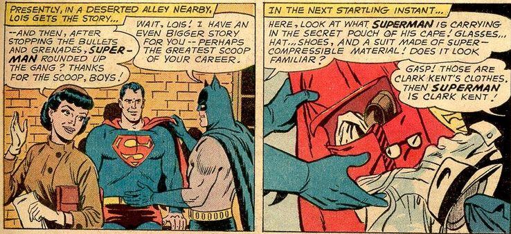 action comics 313 - ¿Qué le pasa a la ropa de Clark Kent cuando se convierte en Superman?