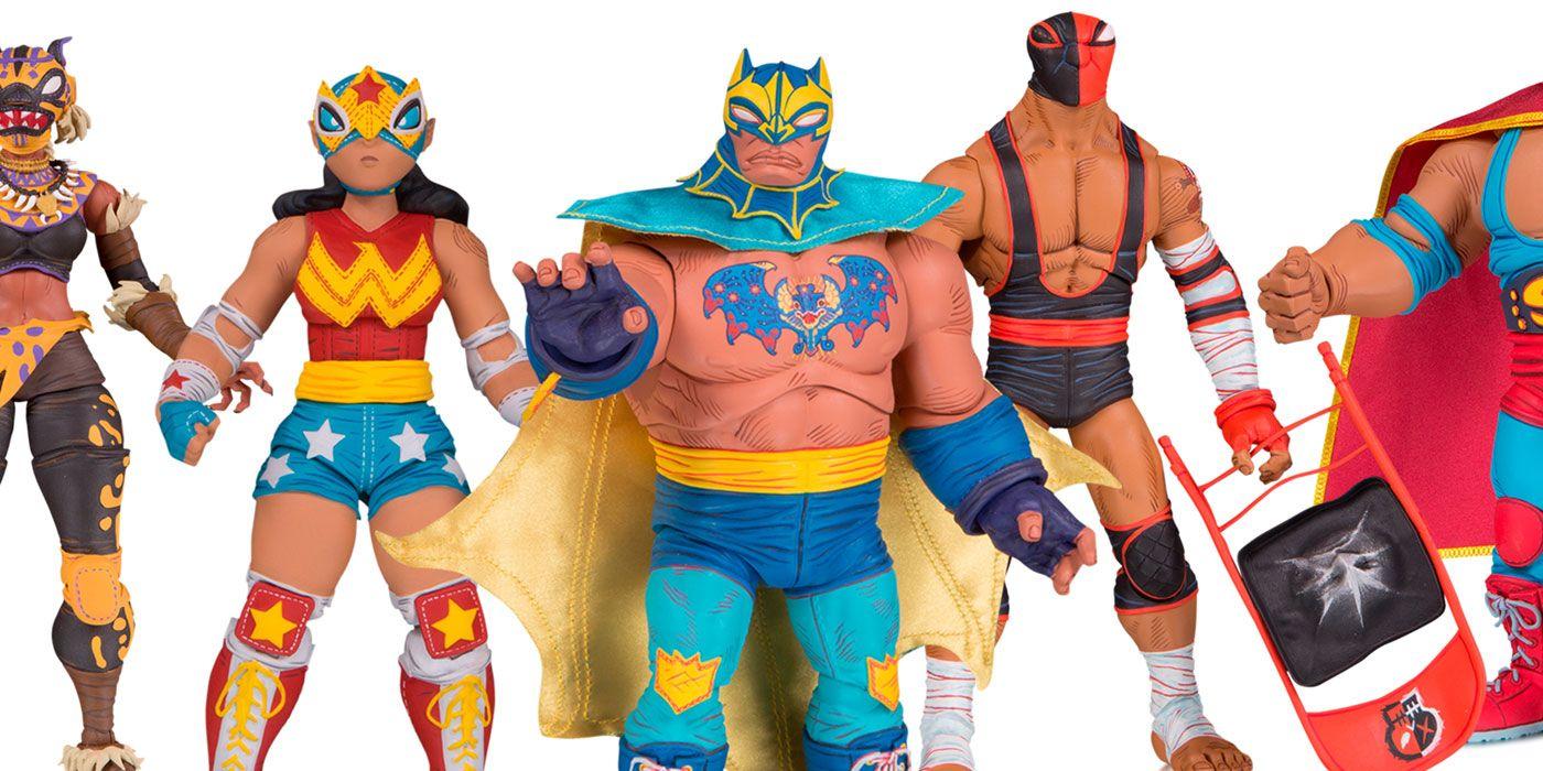 DC Cancels ¡Lucha Explosiva! Luchadore Superhero Figures