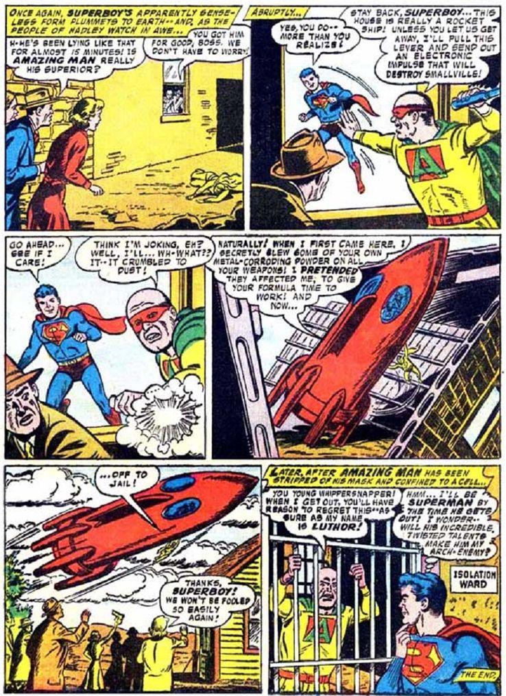 superboy 59 6 - ¿Cuándo conoció Superboy a Lex Luthor?