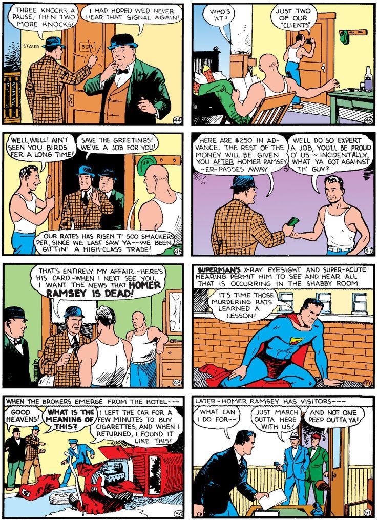 action comics 11 - La primera vez que  Superman derretió plomo con sus poderes de visión