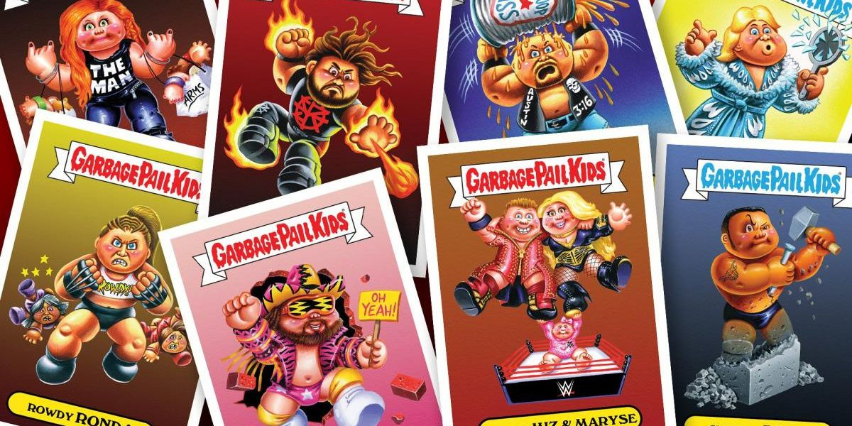 WWE Teams With Garbage Pail Kids for New Merch, Trading Cards