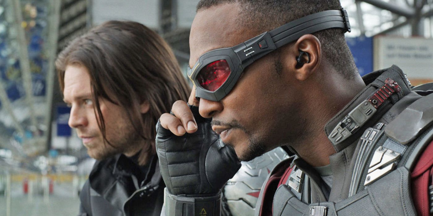 Laidback banter between Anthony Mackie and Sebastian Stan