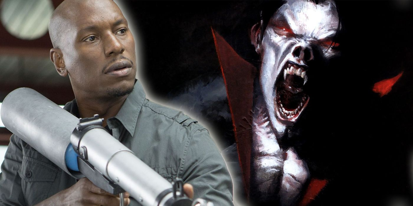 Morbius Star Tyrese Shares BTS Photo from Sony's Spider-Man Spinoff