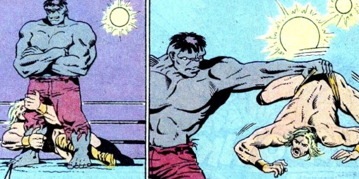 That Time That the Incredible Hulk Beat Up Hulk Hogan   CBR