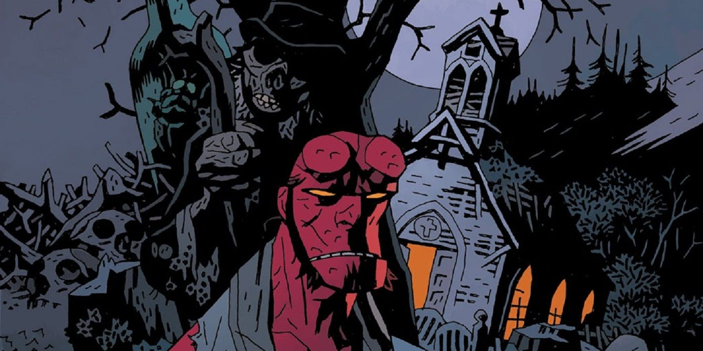 Hellboy Goes Along For a Dark Journey Through the Woods in Crooked Man
