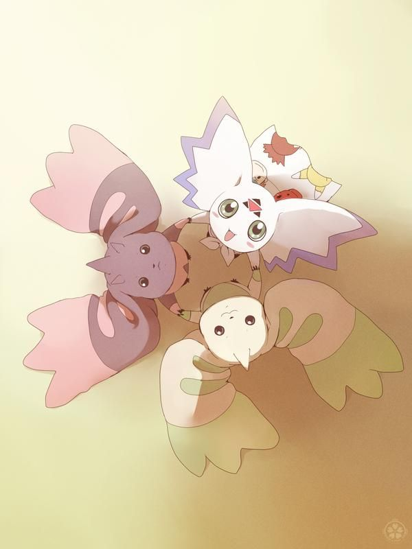 Digimon Tamers Charms Guilmon Renamon Terriermon