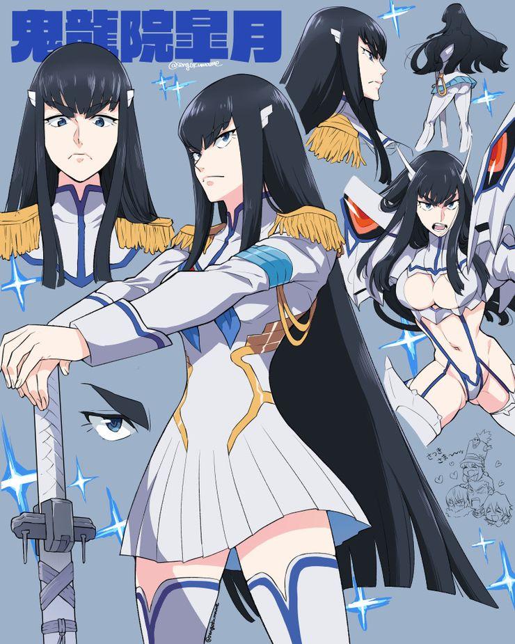 Kill La Kill 10 Works Of Satsuki Fan Art That Look Amazing Cbr