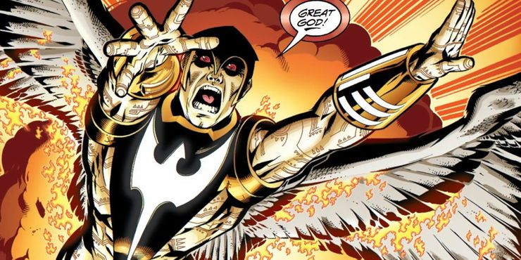 Zauriel in an illustration from comics. JLD team suggestion.