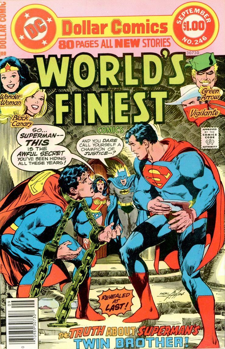 world finest comics 246 0 - ¿Superman tuvo realmente un hermano gemelo que era jorobado?