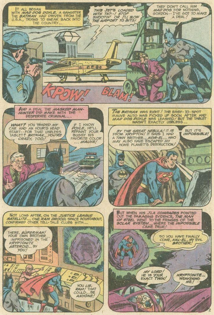 world finest comics 246 1 - ¿Superman tuvo realmente un hermano gemelo que era jorobado?