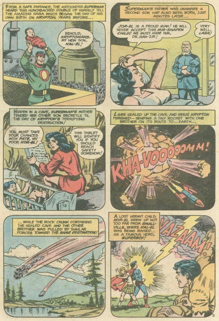 world finest comics 246 2 - ¿Superman tuvo realmente un hermano gemelo que era jorobado?