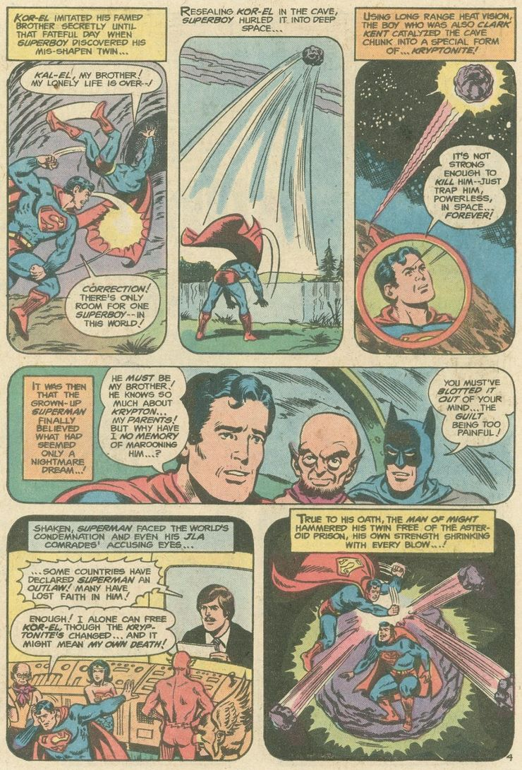 world finest comics 246 3 - ¿Superman tuvo realmente un hermano gemelo que era jorobado?