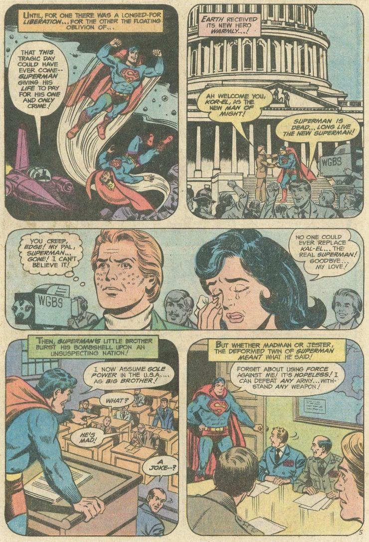 world finest comics 246 4 - ¿Superman tuvo realmente un hermano gemelo que era jorobado?