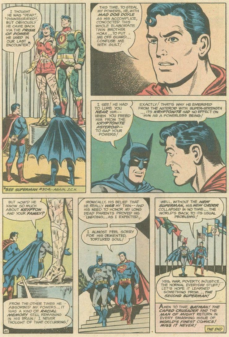 world finest comics 246 7 - ¿Superman tuvo realmente un hermano gemelo que era jorobado?