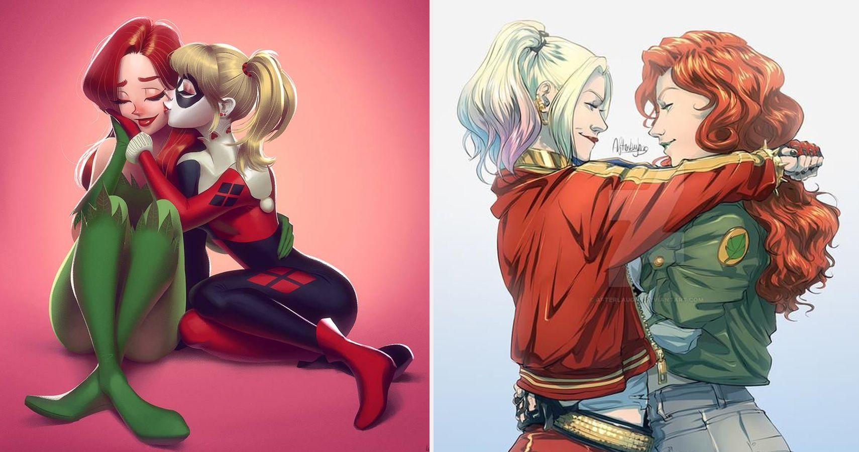 10 Pieces Of Harley Quinn Poison Ivy Fan Art That Are Crazy Romantic