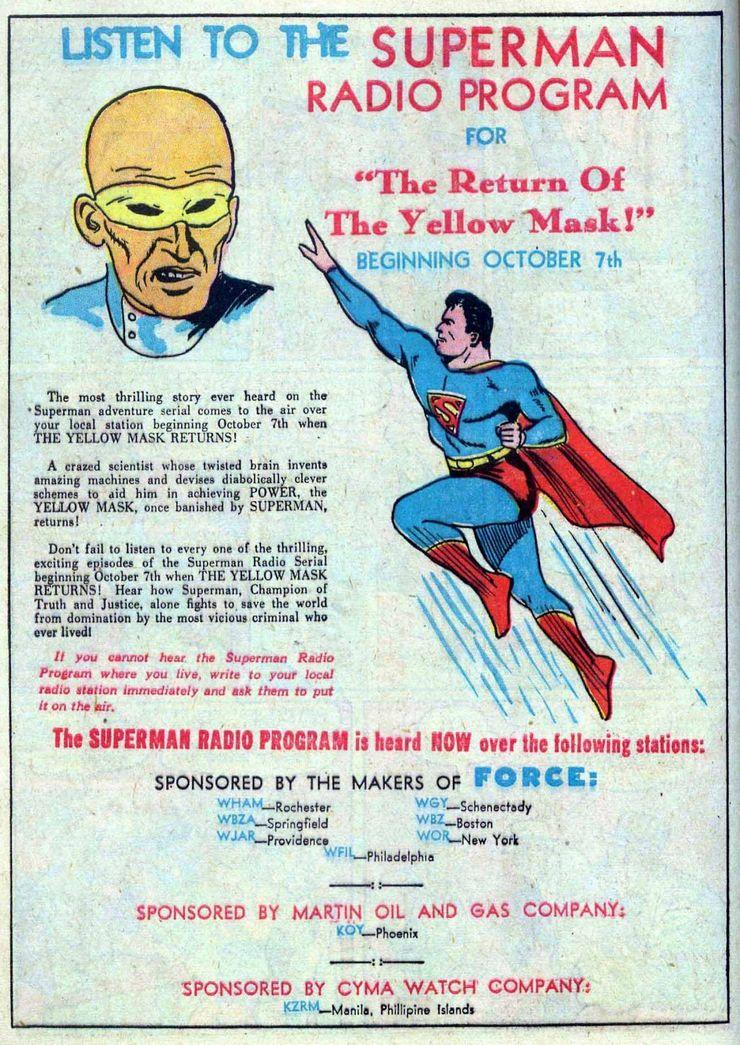 """superman radio show - """"El estilo de vida americano"""" no fue originalmente parte de la interminable batalla de Superman"""
