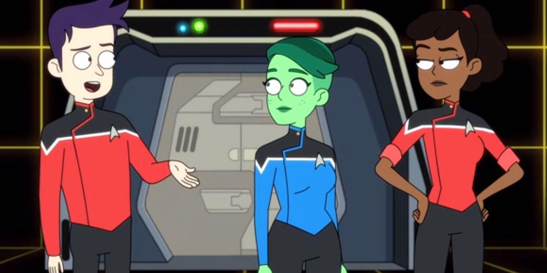 Star Trek: Lower Decks (Star Trek: Deques Inferiores) Acabam de criar uma linha canônica da TNG ridícula 2