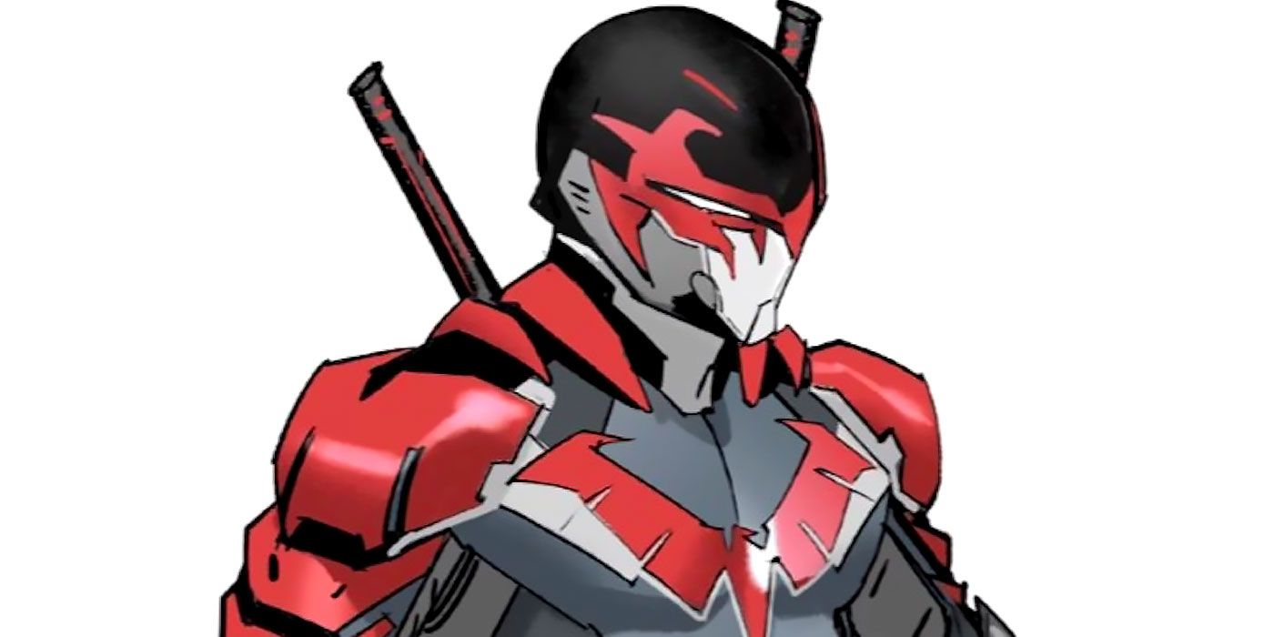 Nightwing Gets a Red Power Rangers Suit in Dan Mora's Latest Crossover Sketch