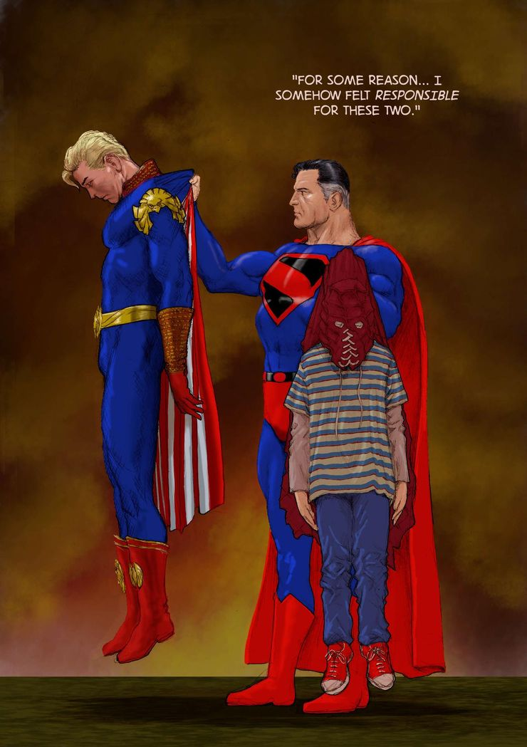 tliid the boys superman vs homelander brightburn by nick perks de7imjx fullview - Superman se enfrenta a Brandon de Brightburn y a Patriota de The Boys