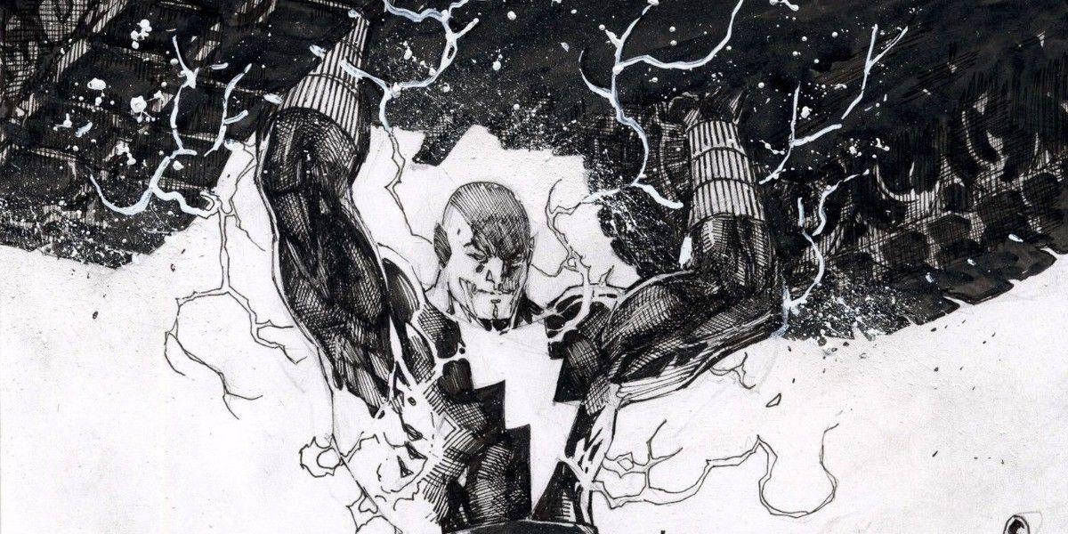 Black Adam Flexes His Strength in Jim Lee Art Sketch