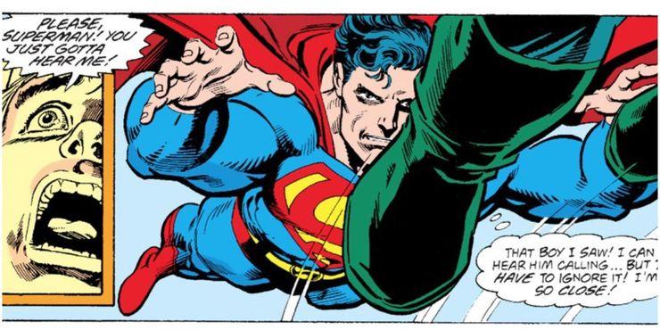 The Death of Superman Superman tries to ignore a plea for help - Cuando la bondad y amabilidad de Superman se interpusieron en el camino