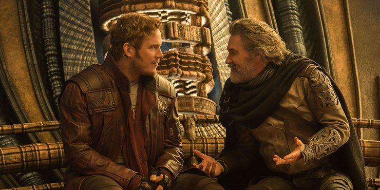 Star-Lord & Ego in Guardians of the Galaxy Vol 2.