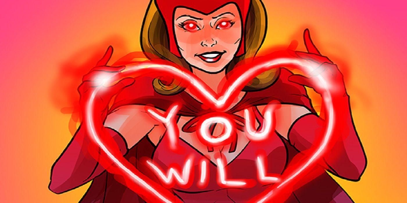 Image result for scarlet witch valentines card