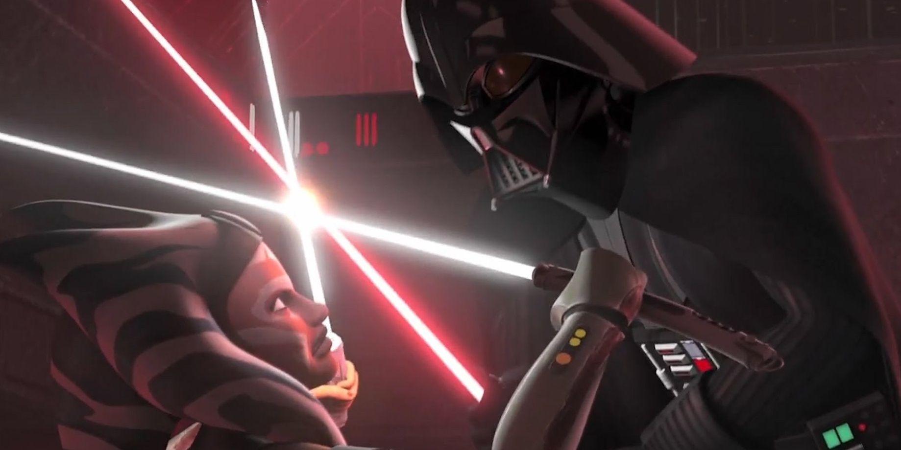 Star Wars: What Happened When Ahsoka Tano Fought Darth Vader