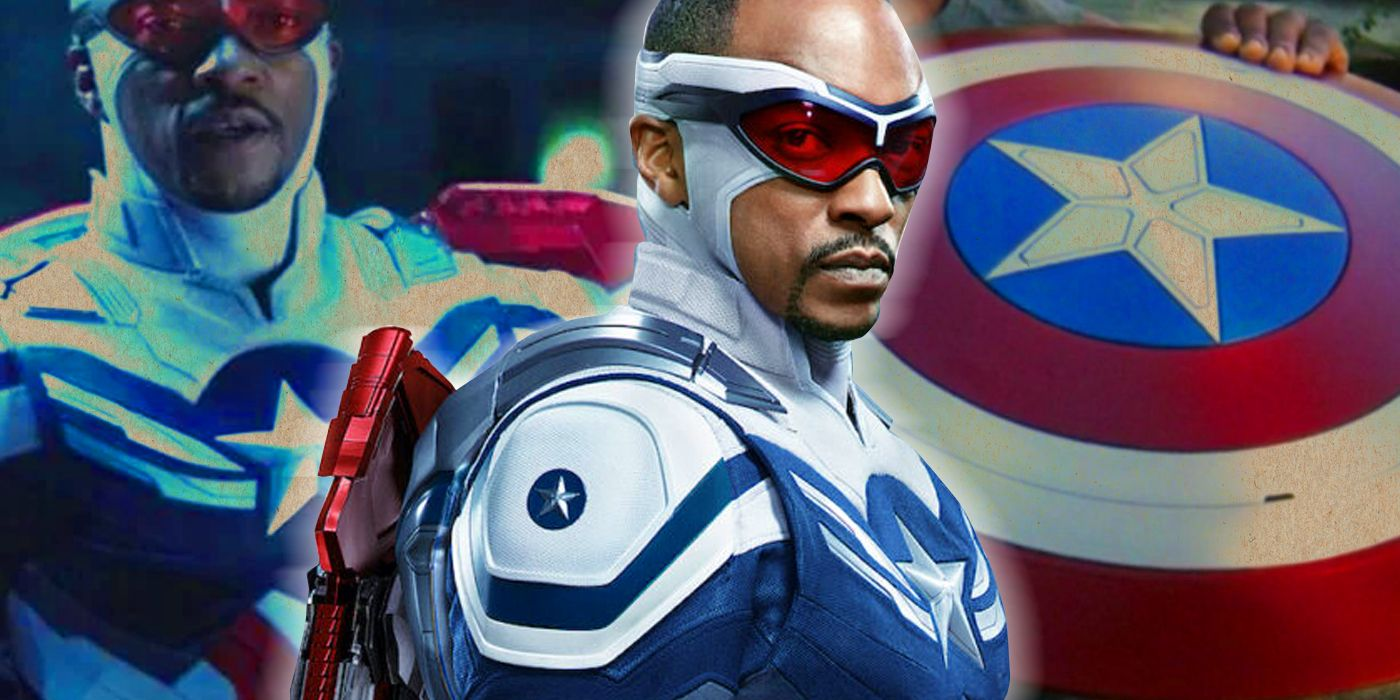 Watch Anthony Mackie See Captain America Figure for the First Time