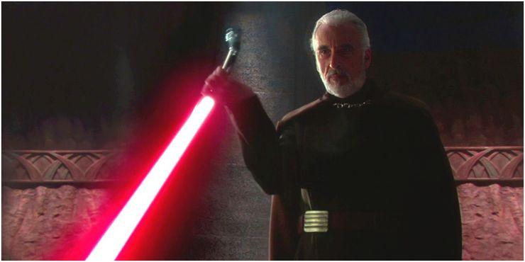 Count Dooku de la precuela Star Wars Trilogy