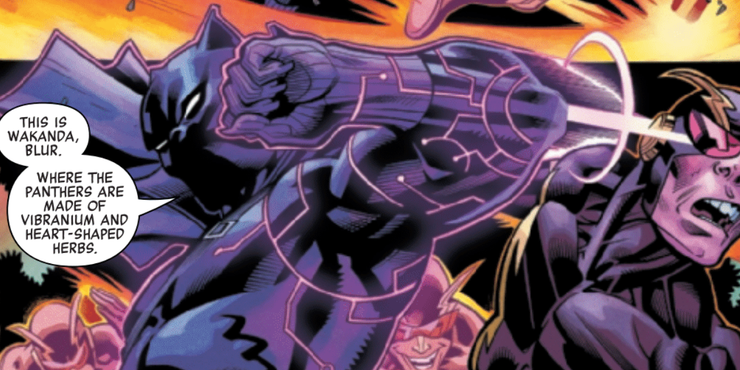 With his styles from multiple disciplines, Black Panther defeats anyone who's up against him.