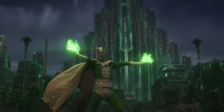 Loki has magic powers involving illusion projection abilities that he might have learned from Frigga, whereas Thor is certainly not capable of any abilities.