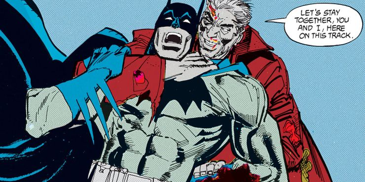 Batman vs Mister Whisper en Leyendas del Caballero Oscuro de 1990 # 10